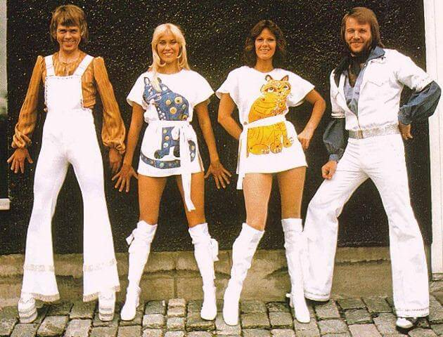 ABBA, looking fabulous