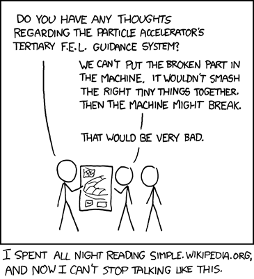 XKCD Comic about simple English Wikipedia